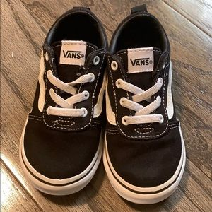 LIKE NEW Toddler Vans Classic Elastic Laces